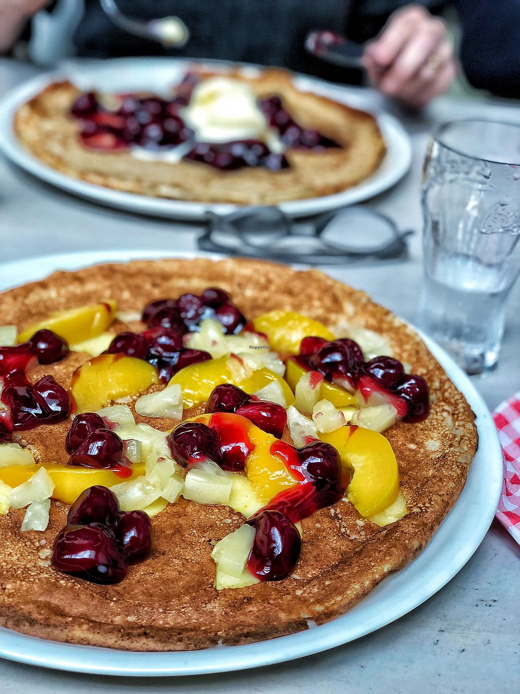 """Photo of Pannekoekenhuis Vierwegen  by <a href=""""/members/profile/annaxxsophie"""">annaxxsophie</a> <br/>Vegan pancake with fruit  <br/> February 11, 2018  - <a href='/contact/abuse/image/85027/357853'>Report</a>"""