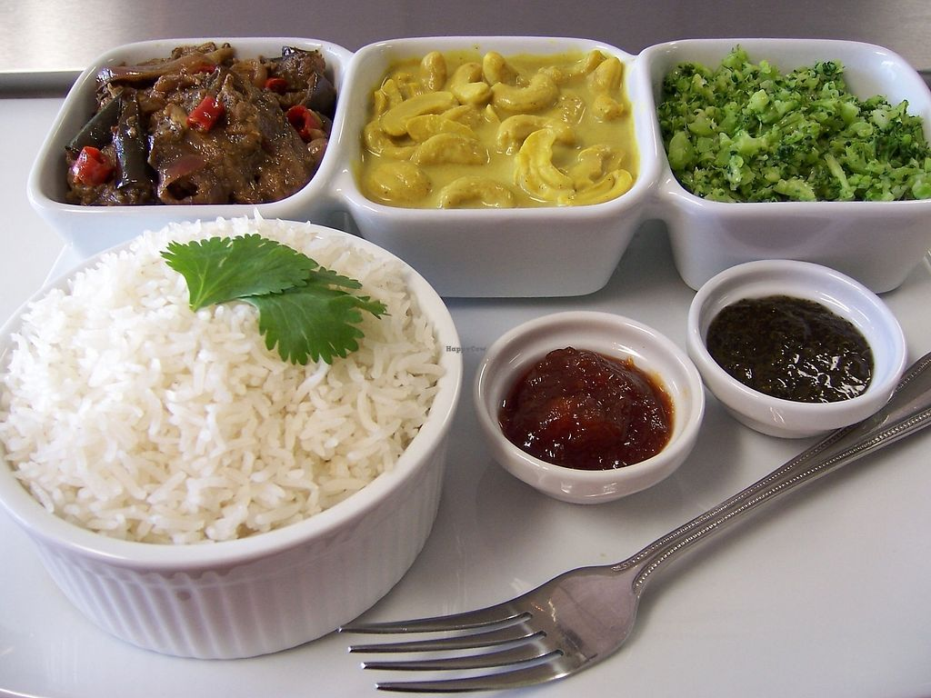 """Photo of Cafe Lanka  by <a href=""""/members/profile/NancyRegala"""">NancyRegala</a> <br/>Their any Three item vegan combo <br/> September 1, 2017  - <a href='/contact/abuse/image/85091/299593'>Report</a>"""
