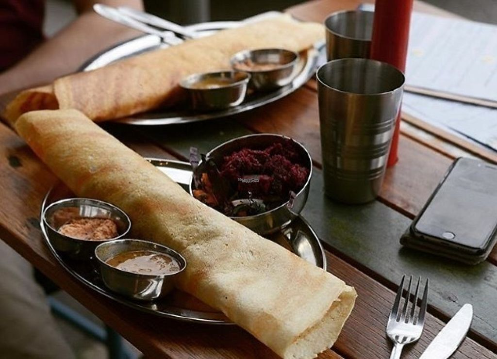 "Photo of Babaji's Kitchen  by <a href=""/members/profile/Babajiskitchen"">Babajiskitchen</a> <br/>Masala dosa filled with potato & pea masala and served with coconut chutney & sambar <br/> January 6, 2017  - <a href='/contact/abuse/image/85107/208530'>Report</a>"