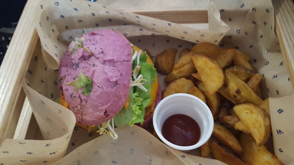 """Photo of Flower Burger  by <a href=""""/members/profile/Rikki%20Townson"""">Rikki Townson</a> <br/>Cherry bomb burger <br/> October 9, 2017  - <a href='/contact/abuse/image/85126/313599'>Report</a>"""