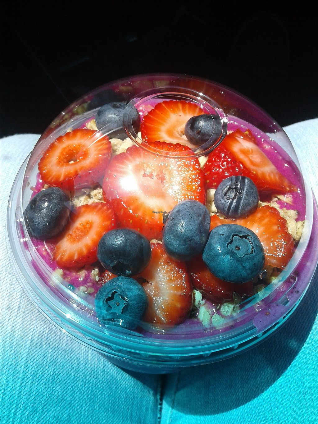 """Photo of Juice It Up - Iris Ave  by <a href=""""/members/profile/anastronomy"""">anastronomy</a> <br/>Pitaya bowl without honey <br/> August 18, 2017  - <a href='/contact/abuse/image/85167/294030'>Report</a>"""