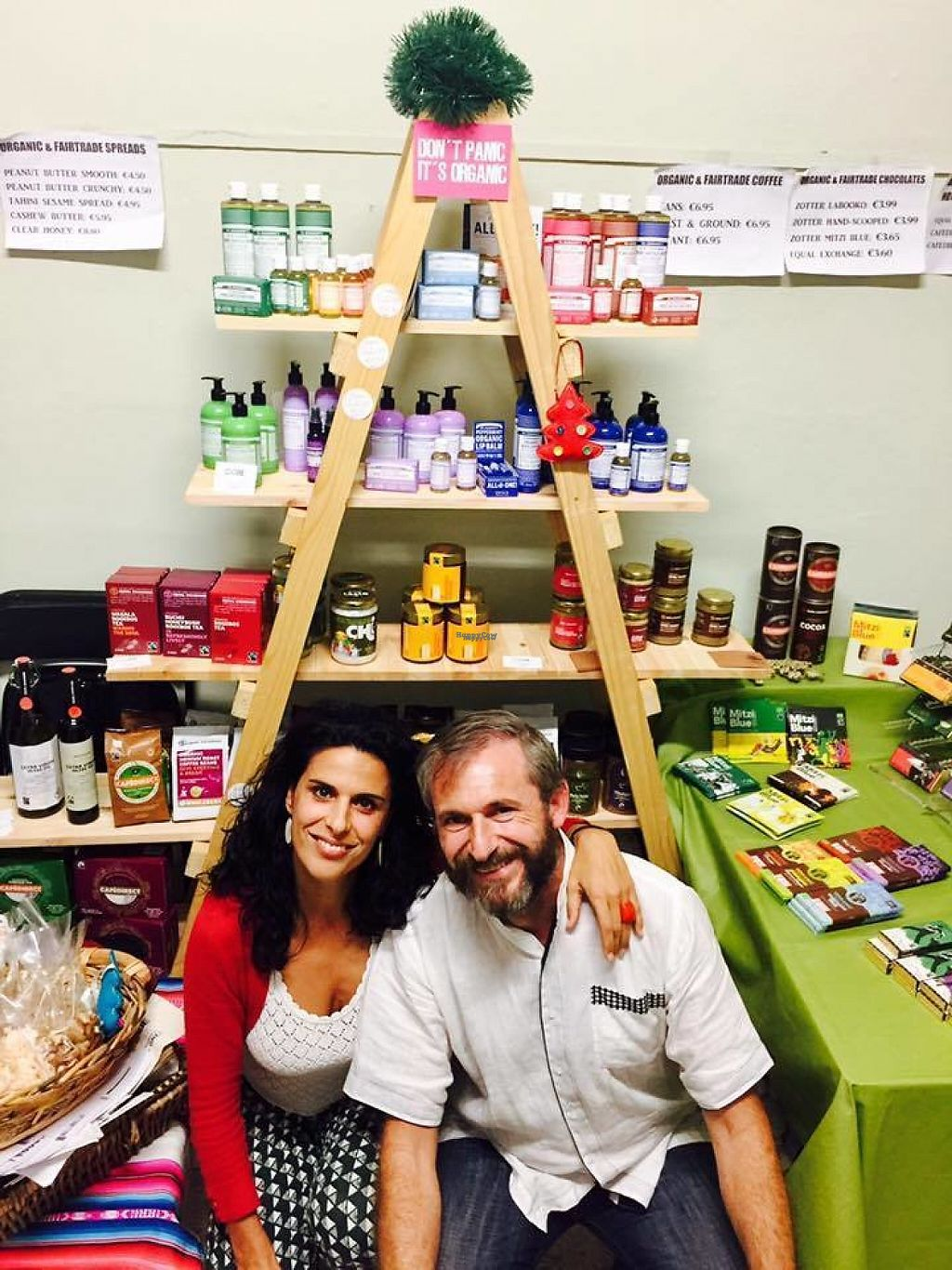"""Photo of Core Green  by <a href=""""/members/profile/CORE%20GREEN%20ecoFOOD"""">CORE GREEN ecoFOOD</a> <br/>Natalie & Aldo taking part in a number of fairs and festivals to promote to raise awareness about ethical consumption, organic farming and fairtrade values <br/> January 8, 2017  - <a href='/contact/abuse/image/85193/209589'>Report</a>"""