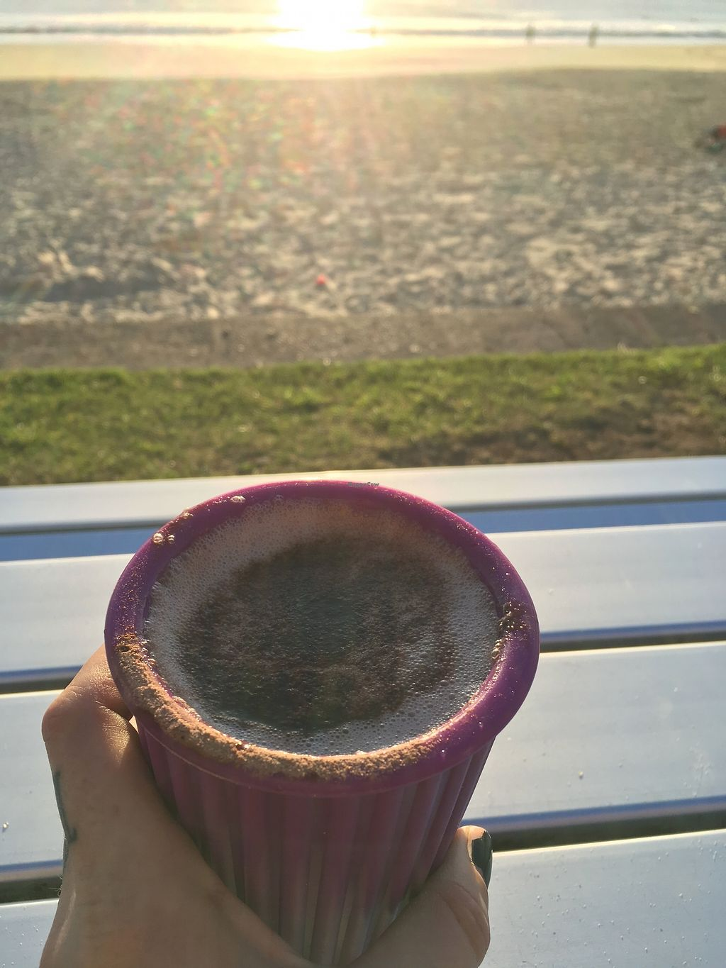 """Photo of Ocean Shepherd Espresso Bar  by <a href=""""/members/profile/jojoinbrighton"""">jojoinbrighton</a> <br/>Hot chocolate in my own mug <br/> August 6, 2017  - <a href='/contact/abuse/image/85217/289677'>Report</a>"""