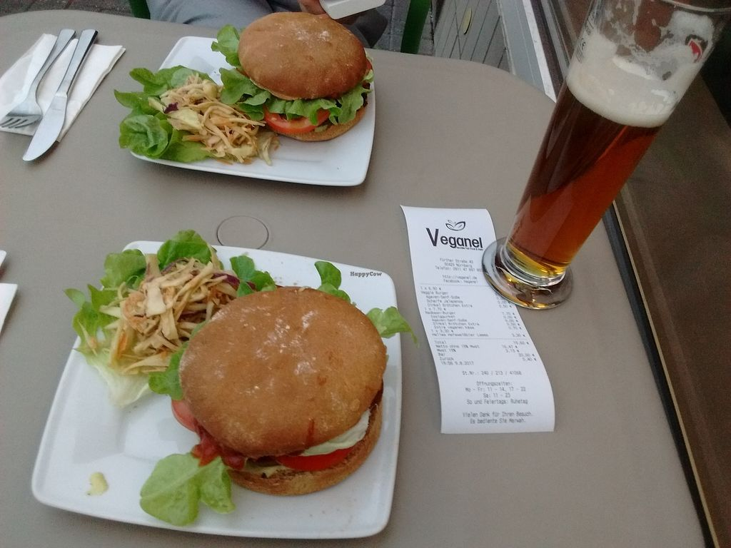 "Photo of Veganel  by <a href=""/members/profile/Toast%20and%20Avocado"">Toast and Avocado</a> <br/>Veggie burger and red bean/seitan burger <br/> August 9, 2017  - <a href='/contact/abuse/image/85242/290947'>Report</a>"