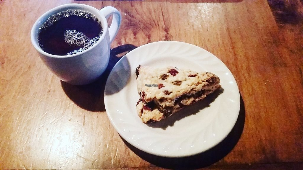 """Photo of Hideaway Bakery  by <a href=""""/members/profile/CorissaMarie"""">CorissaMarie</a> <br/>Raisin, cranberry scone and coffee with soy  <br/> January 14, 2017  - <a href='/contact/abuse/image/85244/211985'>Report</a>"""