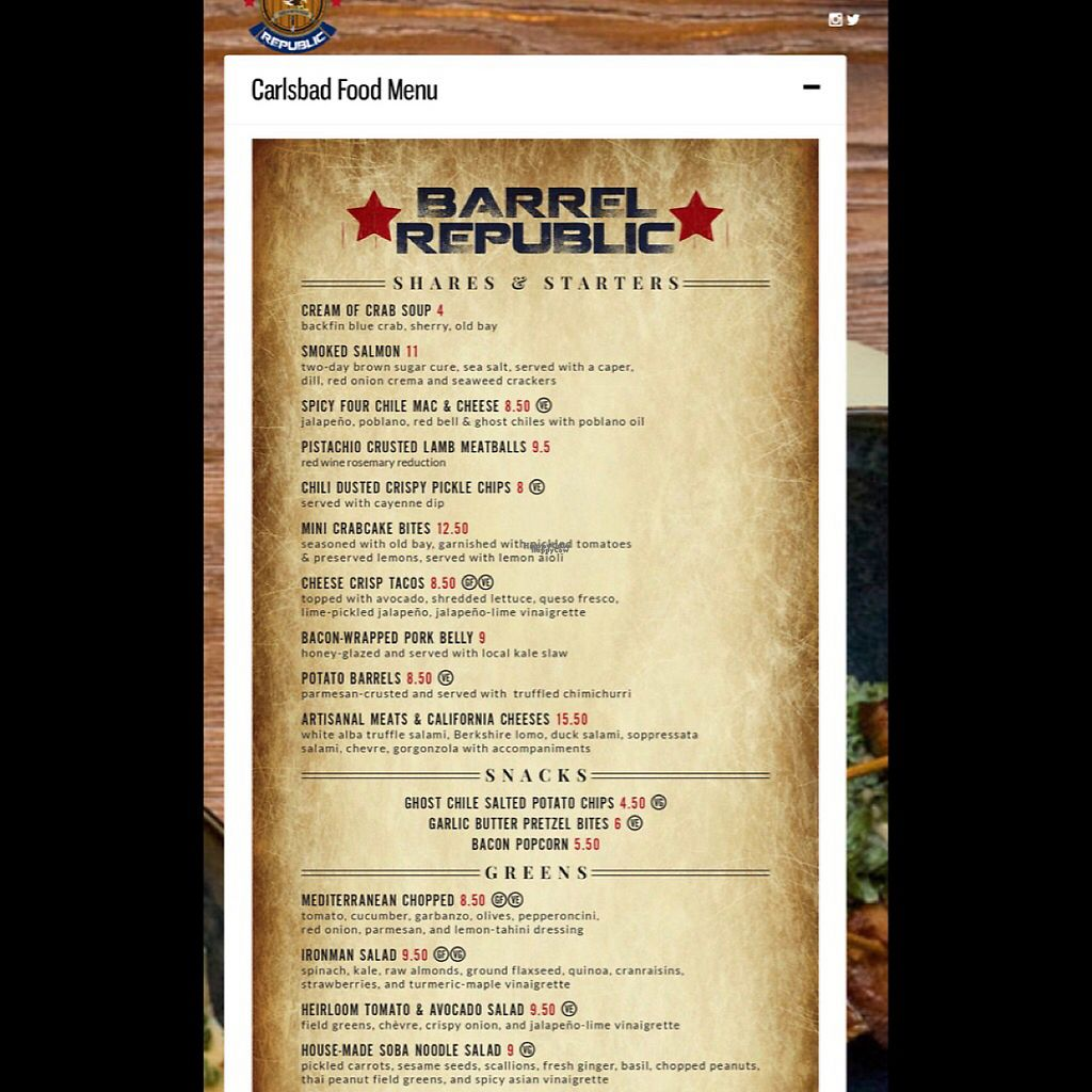 "Photo of Barrel Republic  by <a href=""/members/profile/chocolatespy"">chocolatespy</a> <br/>menu 1 of 2 <br/> January 9, 2017  - <a href='/contact/abuse/image/85247/209915'>Report</a>"