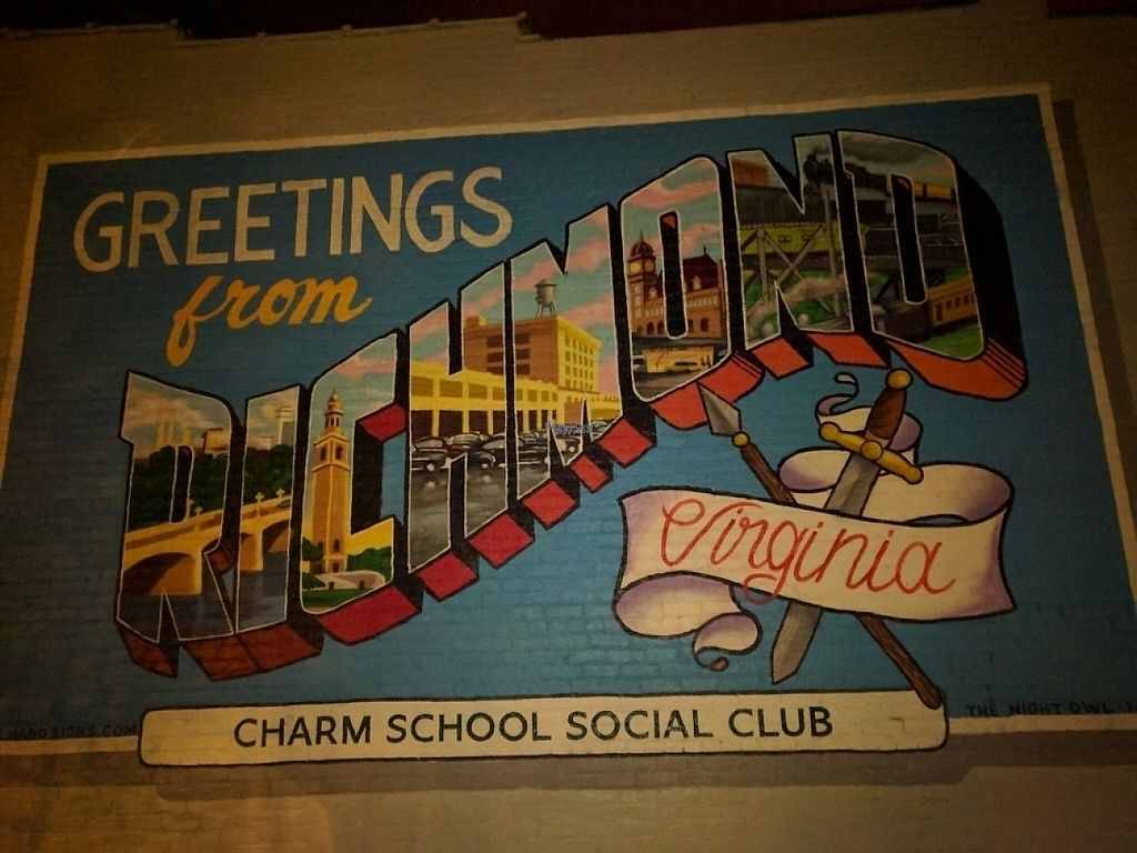 """Photo of Charm School  by <a href=""""/members/profile/JohnGardner"""">JohnGardner</a> <br/>Mural on the building <br/> April 14, 2017  - <a href='/contact/abuse/image/85249/247910'>Report</a>"""