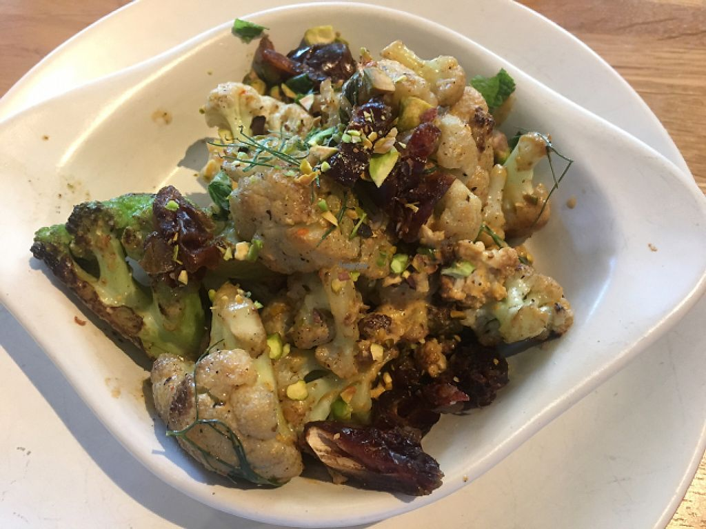 """Photo of True Food Kitchen  by <a href=""""/members/profile/CColors"""">CColors</a> <br/>Charred Cauliflower  <br/> April 24, 2017  - <a href='/contact/abuse/image/85298/251815'>Report</a>"""