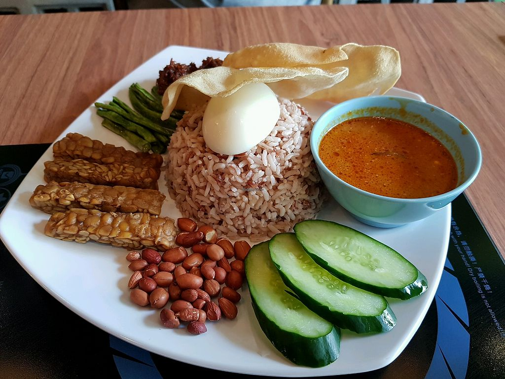 """Photo of Sandalo Healthy Vegetarian Cuisine  by <a href=""""/members/profile/VynieWong"""">VynieWong</a> <br/>Signature Nasi Lemak <br/> April 29, 2018  - <a href='/contact/abuse/image/85302/392352'>Report</a>"""