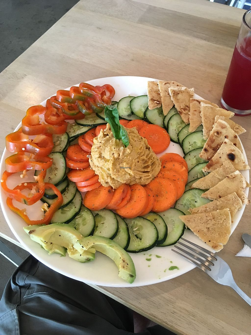 """Photo of Luv Burger  by <a href=""""/members/profile/Snille"""">Snille</a> <br/>Hummus platter (ate a couple of pieces) <br/> December 25, 2017  - <a href='/contact/abuse/image/85306/339057'>Report</a>"""
