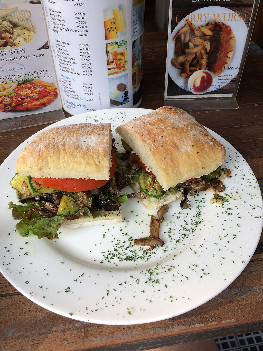 """Photo of The Bakers Table - 더베이커스테이블  by <a href=""""/members/profile/ellieallan"""">ellieallan</a> <br/>""""the vegan"""" sandwich  <br/> July 19, 2017  - <a href='/contact/abuse/image/85311/282076'>Report</a>"""