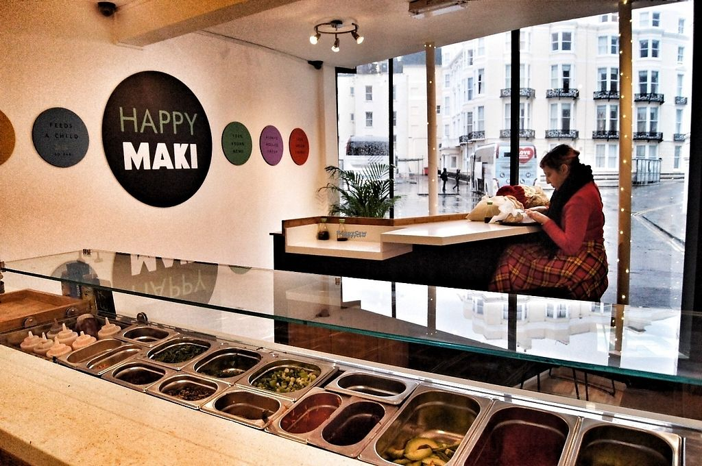"Photo of Happy Maki Sushi  by <a href=""/members/profile/HappyMaki"">HappyMaki</a> <br/>Sushi rolling bar and upstairs seating area.  <br/> January 23, 2017  - <a href='/contact/abuse/image/85314/215375'>Report</a>"