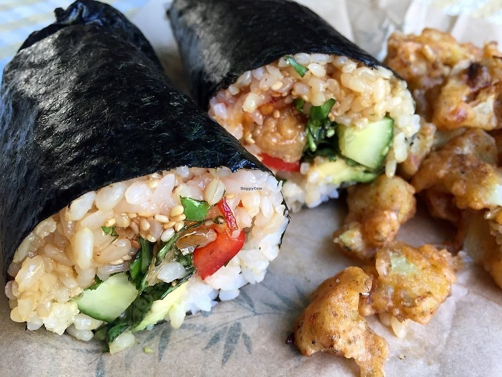 "Photo of Happy Maki Sushi  by <a href=""/members/profile/burgerabroad"">burgerabroad</a> <br/>sweet chilli chicken sushi burrito  <br/> June 17, 2017  - <a href='/contact/abuse/image/85314/270197'>Report</a>"