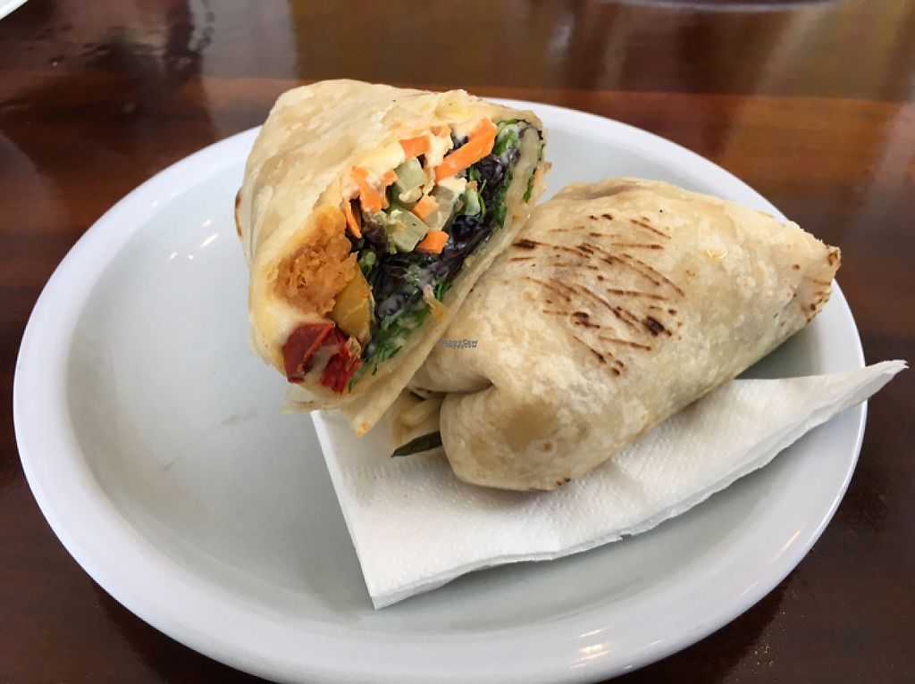 "Photo of Villa 23 Cafe  by <a href=""/members/profile/Yolanda"">Yolanda</a> <br/>vegan wrap <br/> March 31, 2017  - <a href='/contact/abuse/image/85319/242908'>Report</a>"
