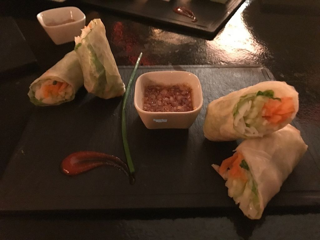 """Photo of Bo & Zin Marrakech  by <a href=""""/members/profile/YasmineBerrahou"""">YasmineBerrahou</a> <br/>Veggie (vegan) spring rolls with amazing sauce.  <br/> January 17, 2017  - <a href='/contact/abuse/image/85331/212624'>Report</a>"""