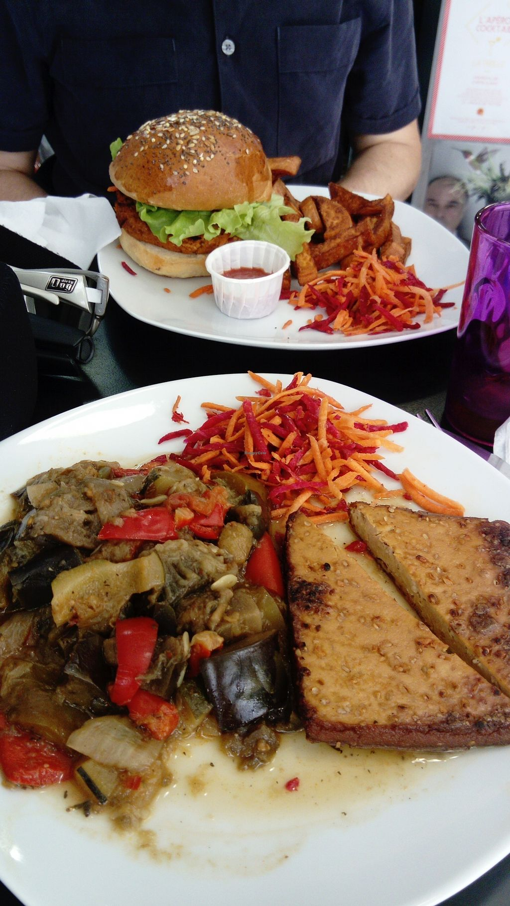 """Photo of Chic Planete  by <a href=""""/members/profile/DeniseR"""">DeniseR</a> <br/>Grilled Tofu and ratatouille.. Plus burger  <br/> June 21, 2017  - <a href='/contact/abuse/image/85341/271867'>Report</a>"""