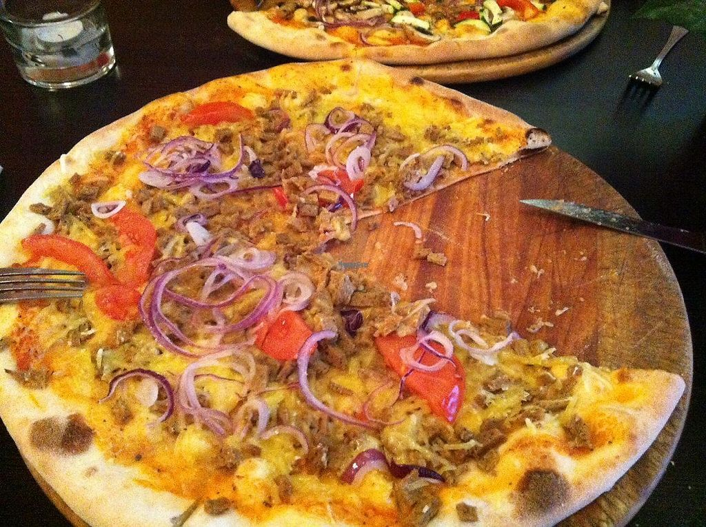 """Photo of Roma Ristorante Pizzeria  by <a href=""""/members/profile/Sternanis"""">Sternanis</a> <br/>Vegan pizza amore (?? with vegan minced meat, fresh tomato and onions.. and vegan cheese). Very filling and tasty! <br/> January 11, 2017  - <a href='/contact/abuse/image/85367/210566'>Report</a>"""