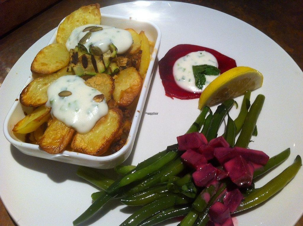 "Photo of Odessa  by <a href=""/members/profile/Sternanis"">Sternanis</a> <br/>Super tasty dinner we had! Moussaka with aubergine, chickpea, potatoes and sour cream on top. Together with beetroot and green beans.  <br/> January 11, 2017  - <a href='/contact/abuse/image/85379/210604'>Report</a>"