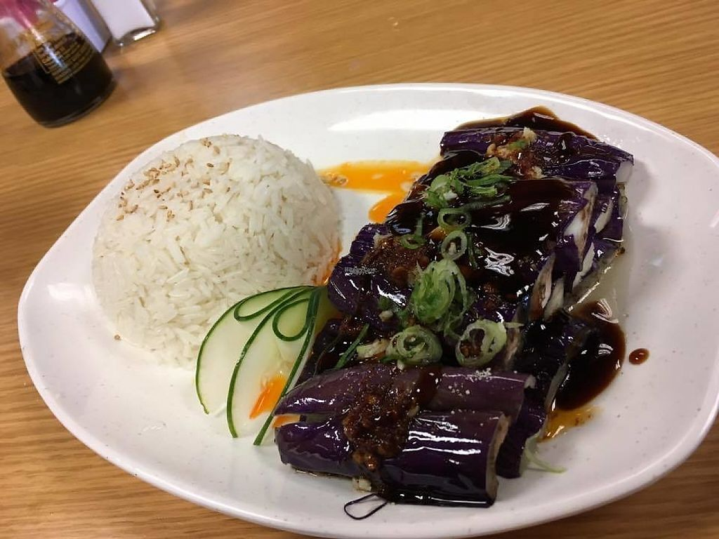 "Photo of Yang's Shabu Shabu  by <a href=""/members/profile/crystalized"">crystalized</a> <br/>vegan eggplant dish with rice <br/> January 11, 2017  - <a href='/contact/abuse/image/85408/210894'>Report</a>"