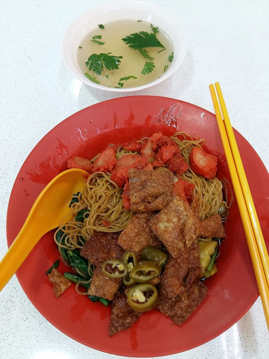 """Photo of Jia Le Yuan Vegetarian  by <a href=""""/members/profile/RichardLee"""">RichardLee</a> <br/>Wanton Noodle <br/> January 20, 2017  - <a href='/contact/abuse/image/85431/213449'>Report</a>"""