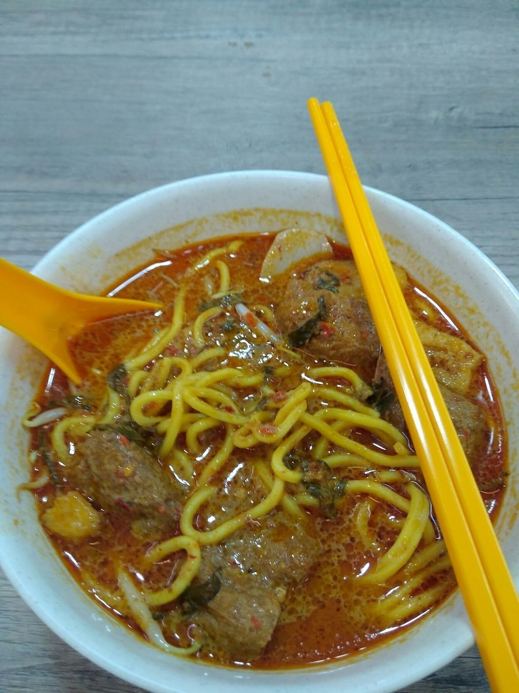 """Photo of Jia Le Yuan Vegetarian  by <a href=""""/members/profile/RichardLee"""">RichardLee</a> <br/>Daily Special for Friday Laksa (very spicy) <br/> January 20, 2017  - <a href='/contact/abuse/image/85431/213471'>Report</a>"""