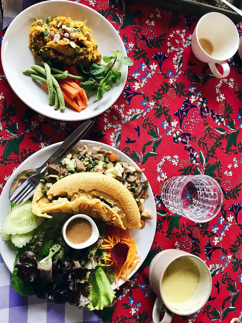 """Photo of Little Good Things  by <a href=""""/members/profile/sinasamira"""">sinasamira</a> <br/>Chickpea omlette and pumpkin hummus <br/> March 2, 2018  - <a href='/contact/abuse/image/85437/365780'>Report</a>"""