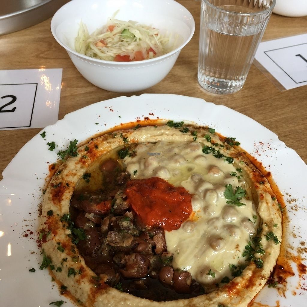 "Photo of Birona Hummus Bar  by <a href=""/members/profile/mcsnv"">mcsnv</a> <br/>Hummus Le Meshulash <br/> March 31, 2017  - <a href='/contact/abuse/image/85447/243131'>Report</a>"