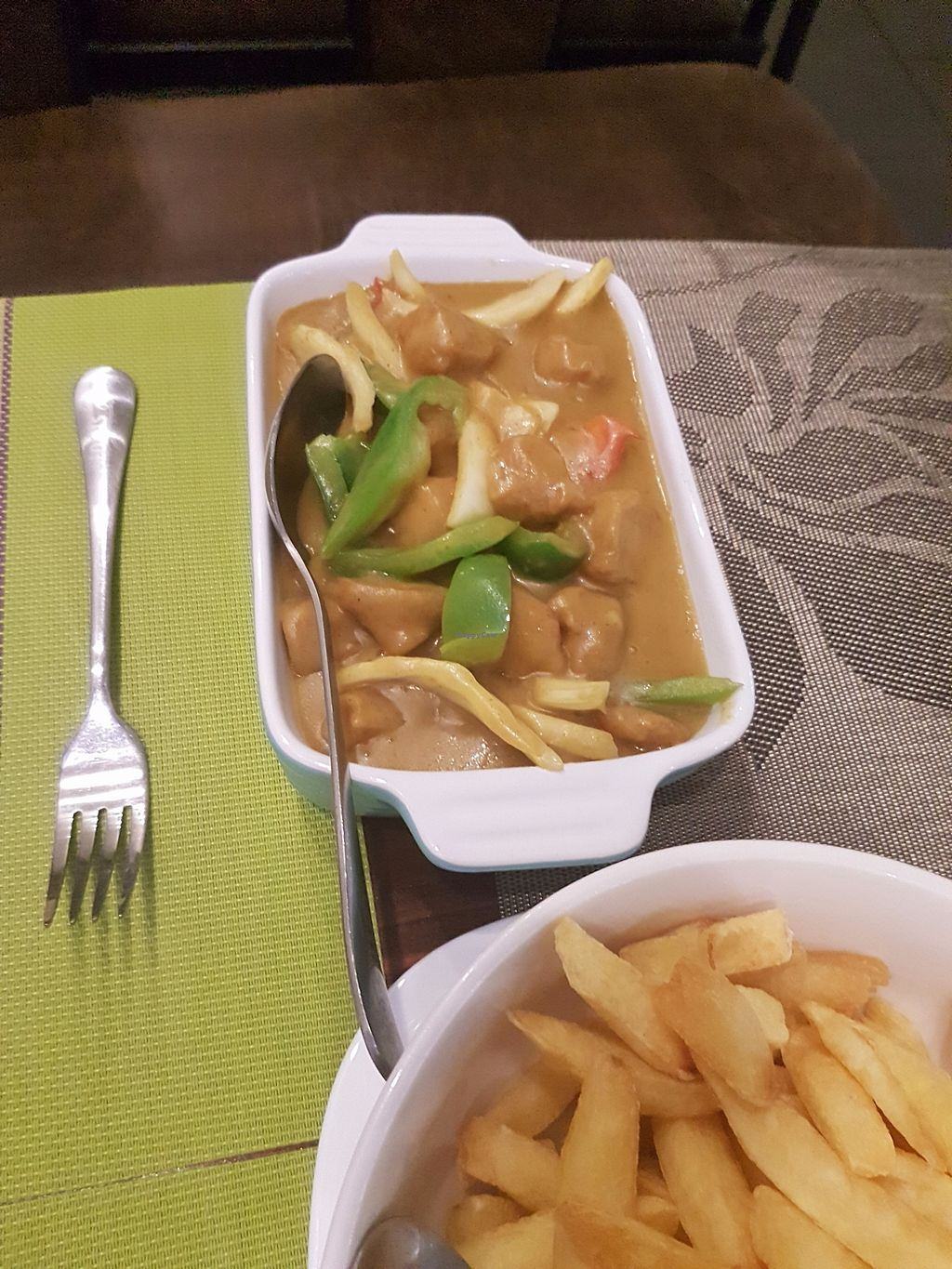 """Photo of Lotus Vegetarian Cuisine  by <a href=""""/members/profile/LouiseO%27Neill"""">LouiseO'Neill</a> <br/>chicken curry <br/> September 28, 2017  - <a href='/contact/abuse/image/85472/309302'>Report</a>"""