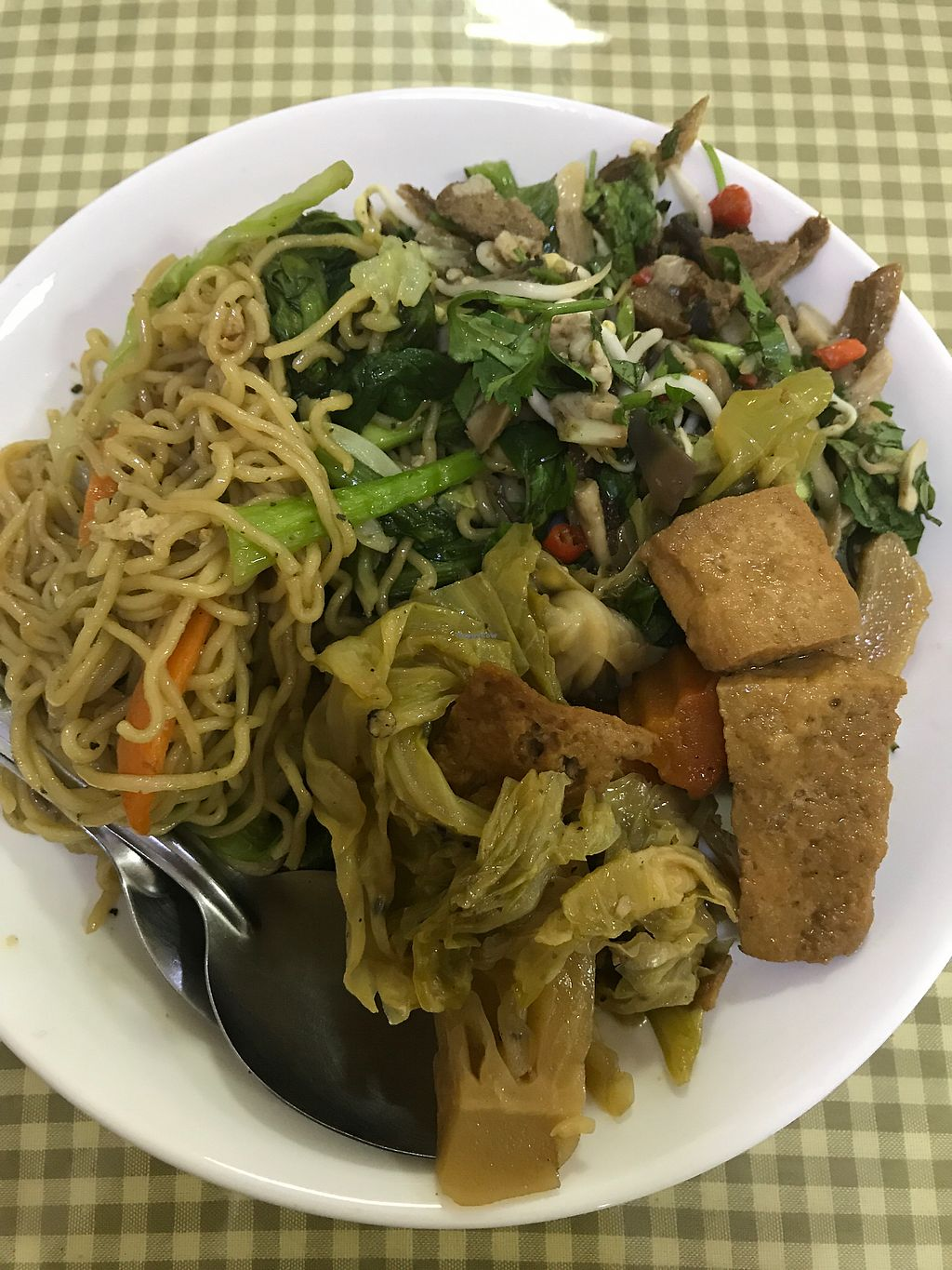 "Photo of Khouadin Vegetarian  by <a href=""/members/profile/Zerthis"">Zerthis</a> <br/>Noodles, tofu, and other vegan deliciousness <br/> August 28, 2017  - <a href='/contact/abuse/image/8550/298143'>Report</a>"