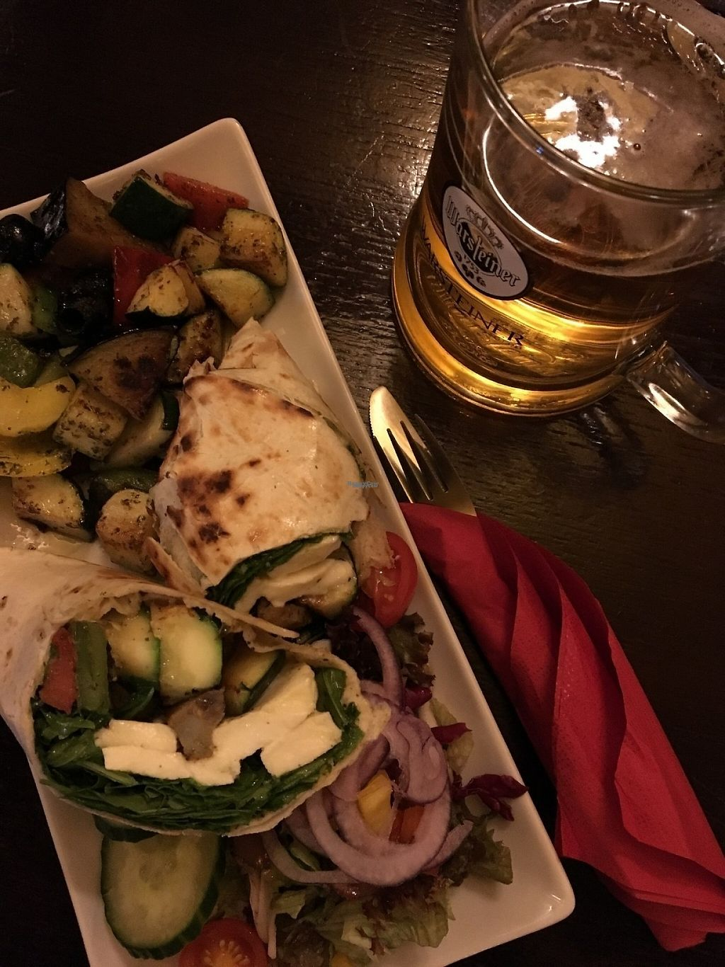"""Photo of Finnegan's Irish Pub  by <a href=""""/members/profile/tcsengusz"""">tcsengusz</a> <br/>Grilled veggie wrap w/ mozarella <br/> January 13, 2017  - <a href='/contact/abuse/image/85521/211757'>Report</a>"""