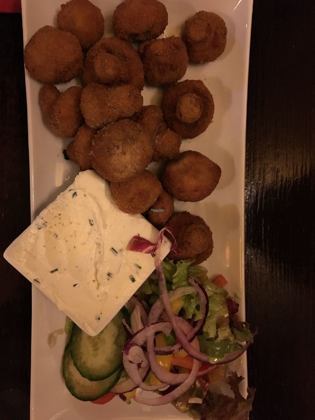 """Photo of Finnegan's Irish Pub  by <a href=""""/members/profile/tcsengusz"""">tcsengusz</a> <br/>Deep fried mushrooms w/ fresh salad <br/> January 13, 2017  - <a href='/contact/abuse/image/85521/211758'>Report</a>"""