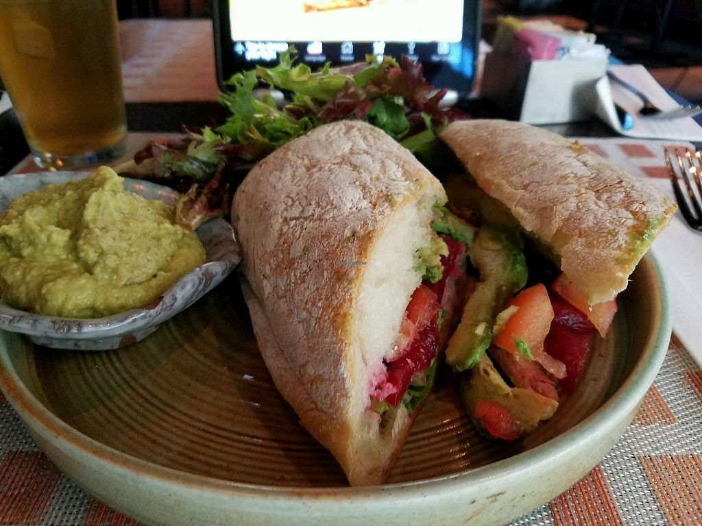 """Photo of Thyme - Airport  by <a href=""""/members/profile/eric"""">eric</a> <br/>smoked beet club made vegan <br/> September 22, 2017  - <a href='/contact/abuse/image/85522/307170'>Report</a>"""