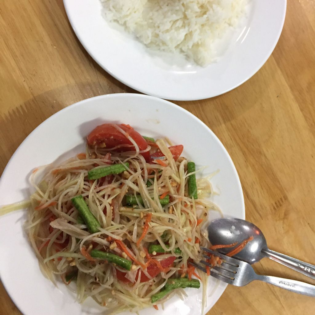 """Photo of CLOSED: Long  by <a href=""""/members/profile/olgagreen"""">olgagreen</a> <br/>fresh and delicious $1,5 papaya salad and rice :) <br/> January 22, 2017  - <a href='/contact/abuse/image/85558/214419'>Report</a>"""