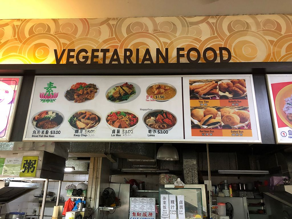 """Photo of Vegetarian Food - Woodlands Ave  by <a href=""""/members/profile/CherylQuincy"""">CherylQuincy</a> <br/>Stall front <br/> January 25, 2018  - <a href='/contact/abuse/image/85594/350744'>Report</a>"""