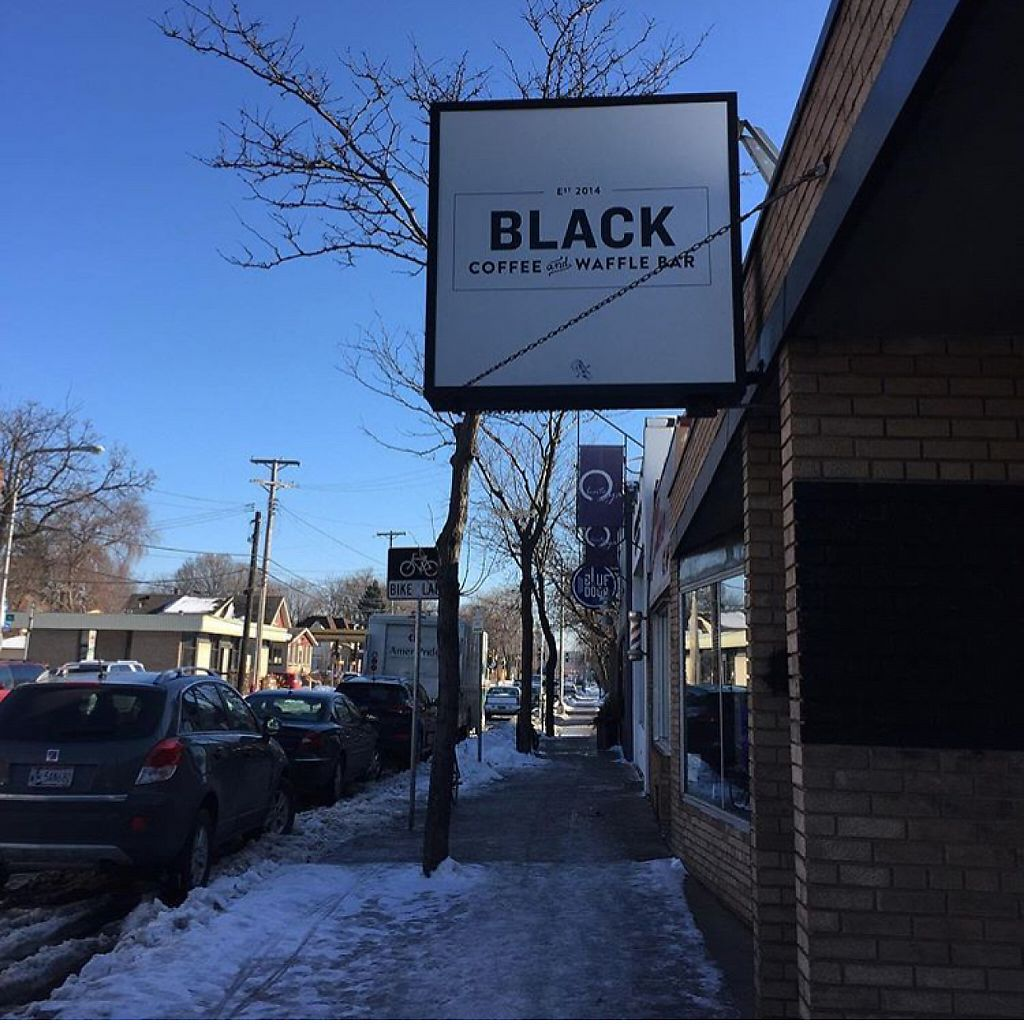 """Photo of Black Coffee and Waffle Bar  by <a href=""""/members/profile/happycowgirl"""">happycowgirl</a> <br/>entrance w street parking out front  <br/> January 30, 2017  - <a href='/contact/abuse/image/85600/219661'>Report</a>"""