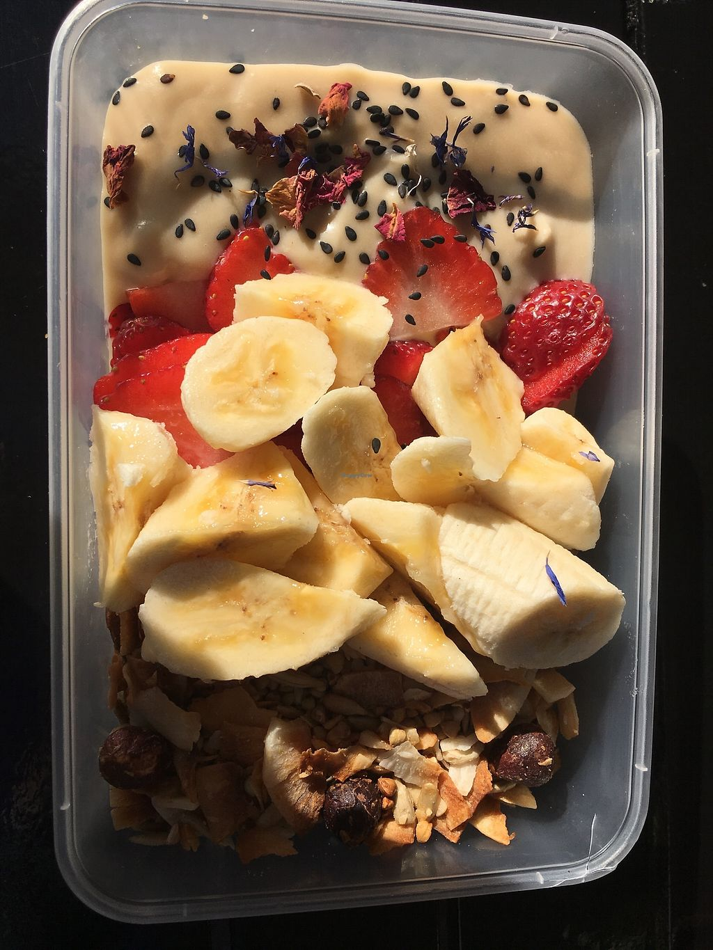 """Photo of Samadhi Whole Foods  by <a href=""""/members/profile/MelanieAlden"""">MelanieAlden</a> <br/>Granola Bowl with Coconut Yoghurt (take away)  <br/> July 27, 2017  - <a href='/contact/abuse/image/85607/285698'>Report</a>"""