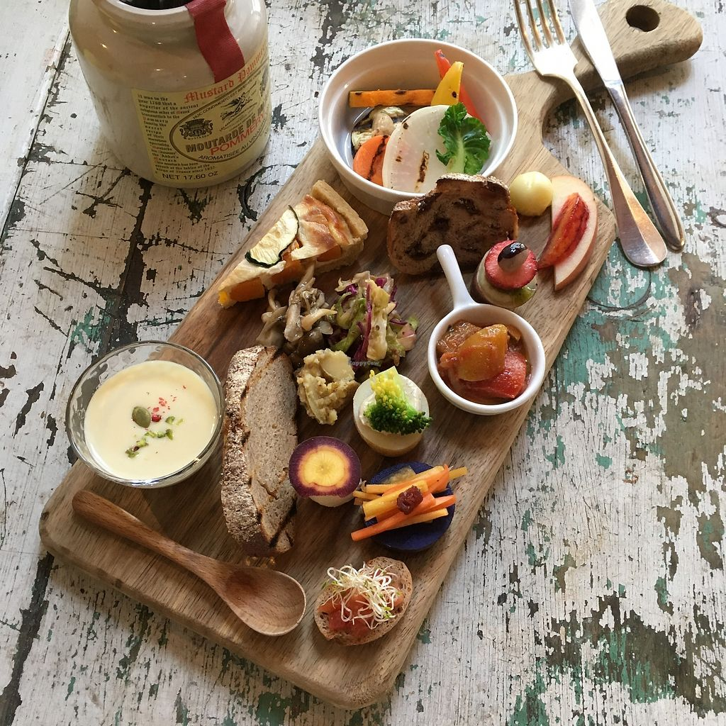 "Photo of Plus Veganique  by <a href=""/members/profile/Plusveganique"">Plusveganique</a> <br/>Set A ""Antipasto Plate - Farmer's Organic Vegetables"" 1,800yen + tax <br/> October 20, 2017  - <a href='/contact/abuse/image/85608/316834'>Report</a>"
