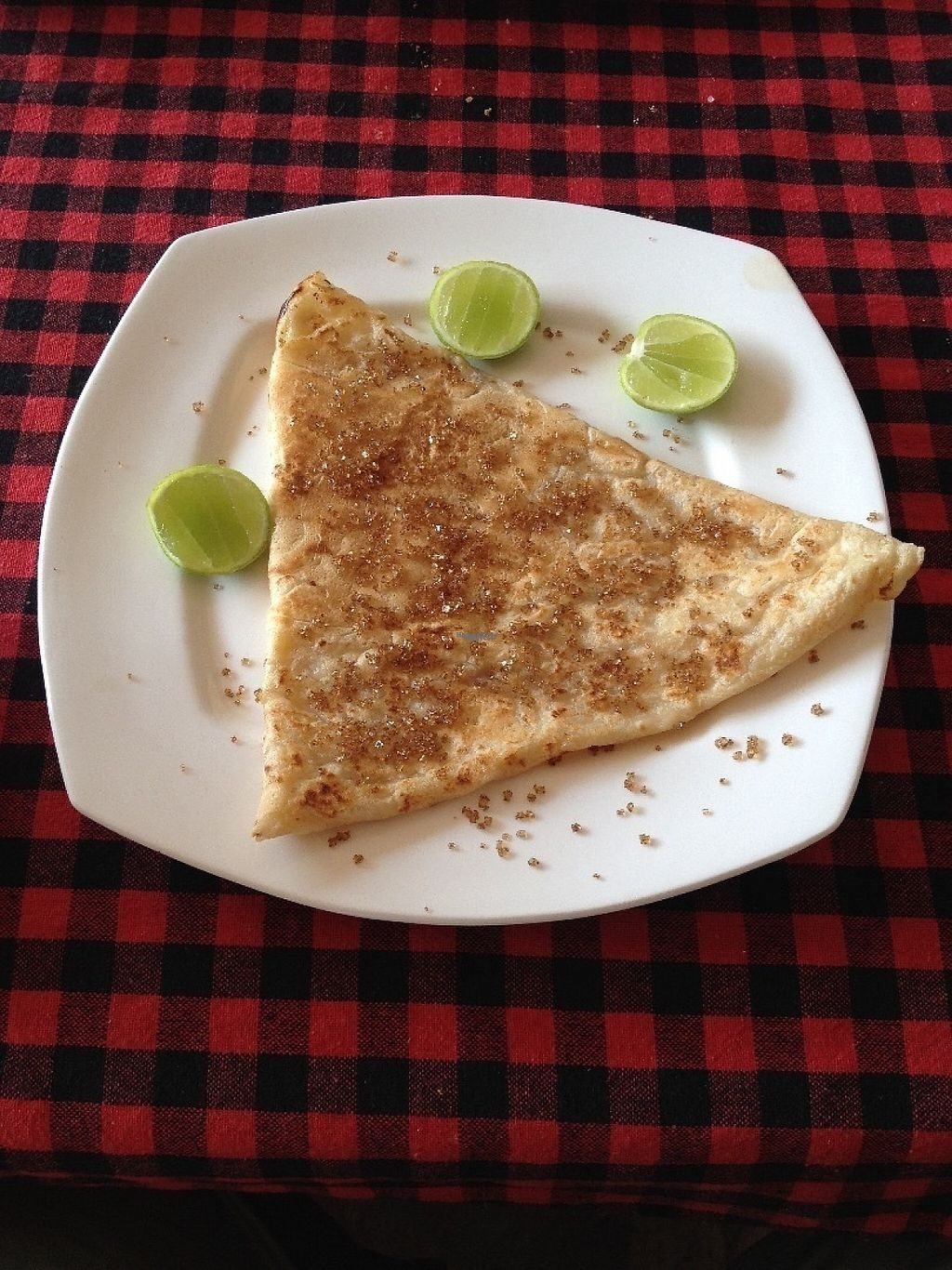 """Photo of Maria Guesthouse Restaurant  by <a href=""""/members/profile/Hellavegan"""">Hellavegan</a> <br/>Vegan Pancake <br/> January 25, 2017  - <a href='/contact/abuse/image/85612/216682'>Report</a>"""
