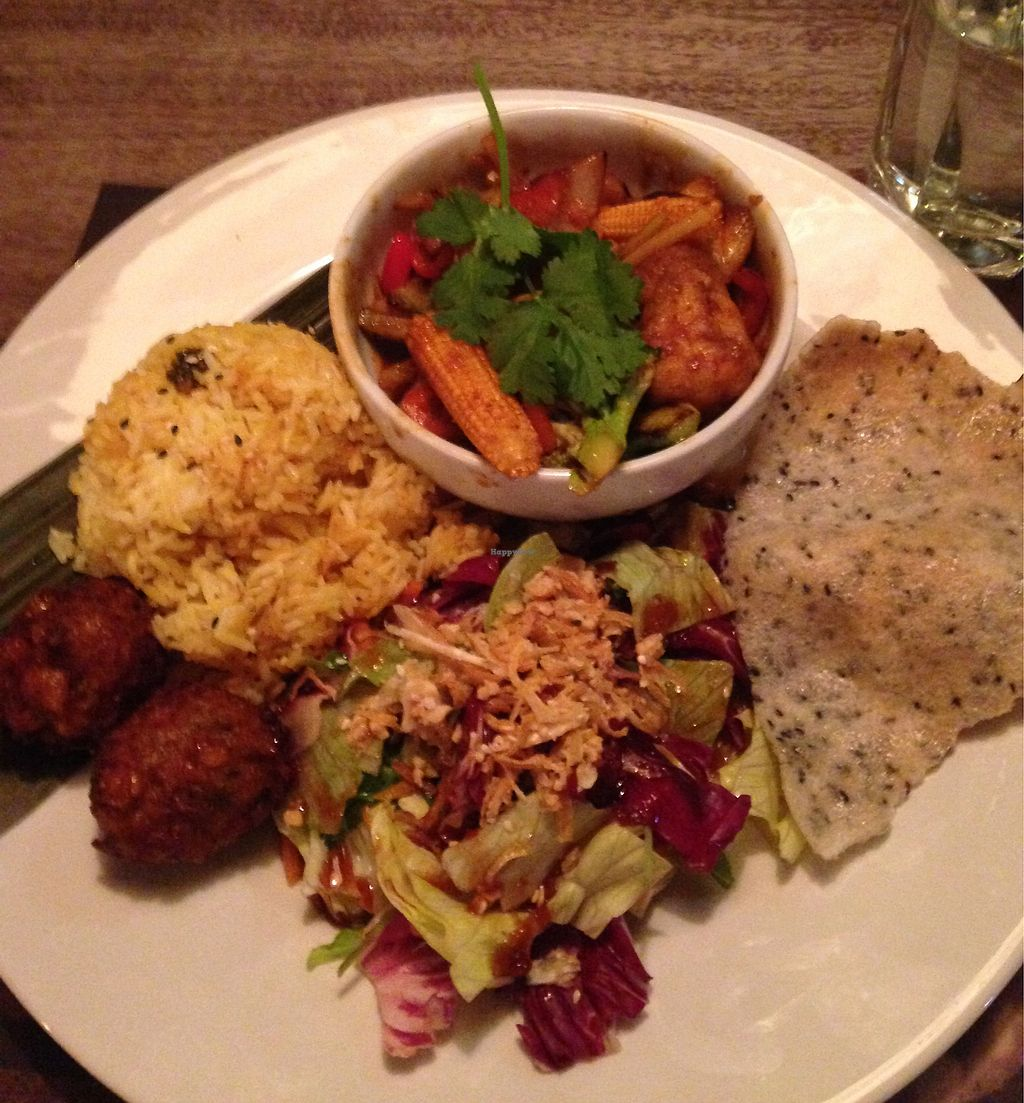 """Photo of Banana Tree - Angel  by <a href=""""/members/profile/Bern"""">Bern</a> <br/>Vegan tofu taster plate for £14 <br/> November 7, 2017  - <a href='/contact/abuse/image/85628/323094'>Report</a>"""