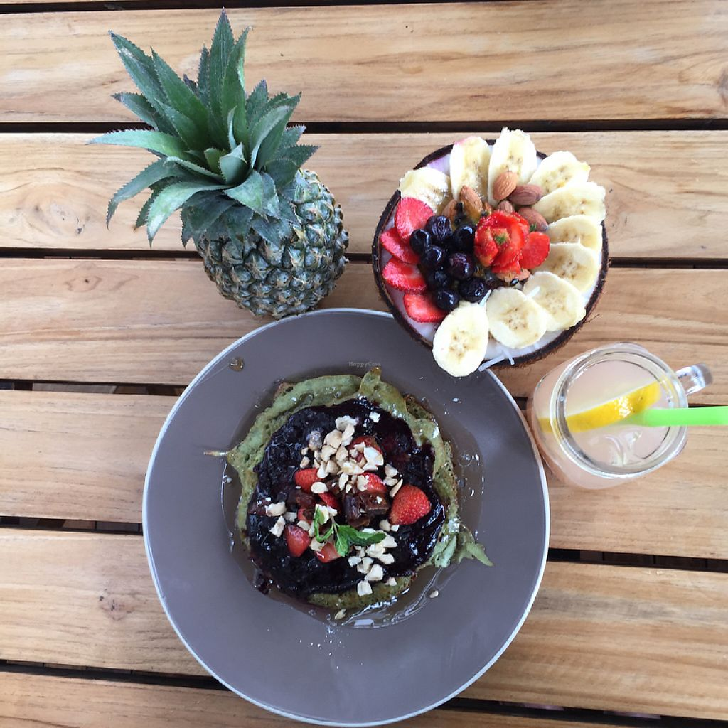 """Photo of Cafe Organic - Seminyak  by <a href=""""/members/profile/Eefie"""">Eefie</a> <br/>Acai bowl & Matcha pancakes mmmmmm❤️❤️ <br/> May 28, 2017  - <a href='/contact/abuse/image/85641/263424'>Report</a>"""