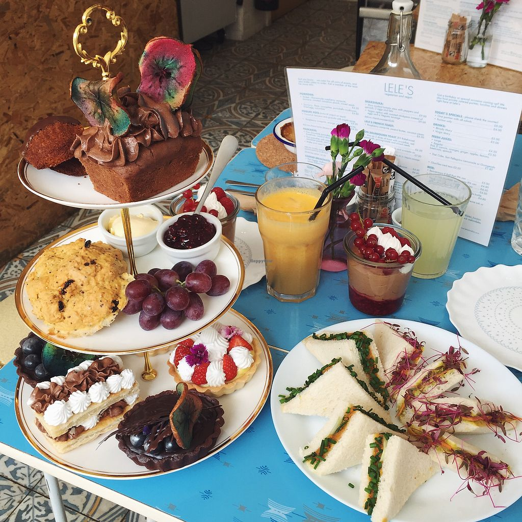 """Photo of Lele's  by <a href=""""/members/profile/koringal"""">koringal</a> <br/>Vegan afternoon tea - wow! <br/> September 30, 2017  - <a href='/contact/abuse/image/85652/310332'>Report</a>"""