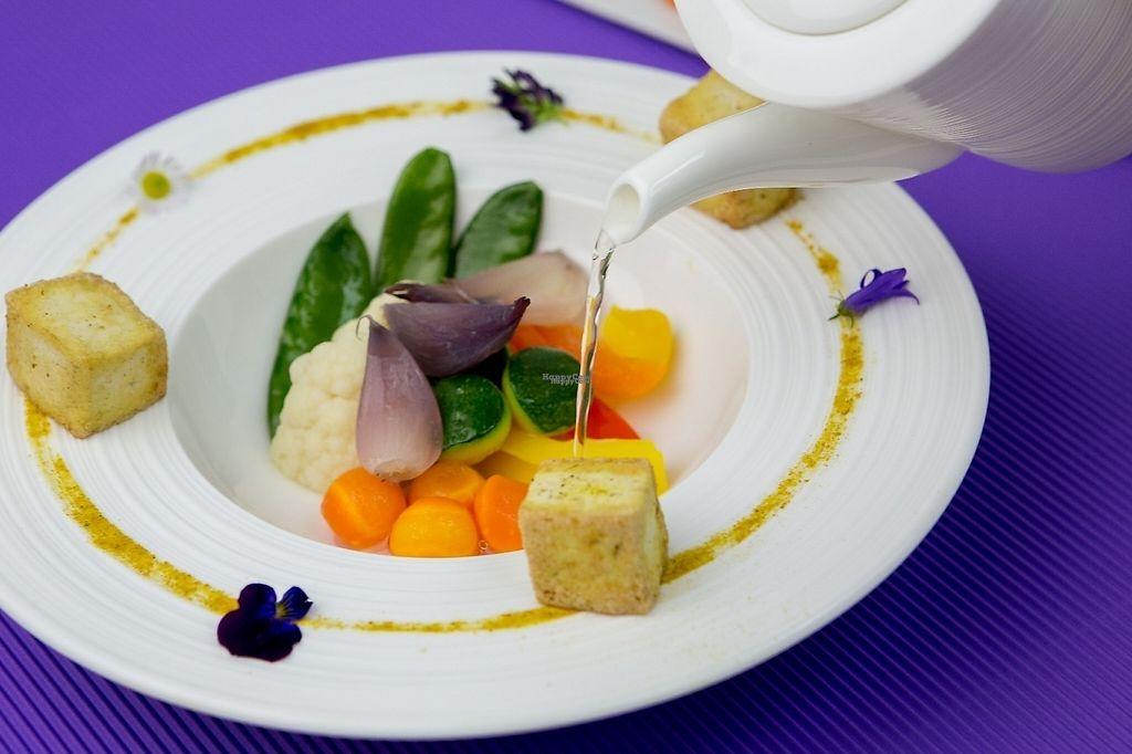 "Photo of Orso Grigio  by <a href=""/members/profile/danidani"">danidani</a> <br/>Pan-fried seasonal vegetables on tofu cream perfumed with curcuma <br/> January 17, 2017  - <a href='/contact/abuse/image/85664/212861'>Report</a>"