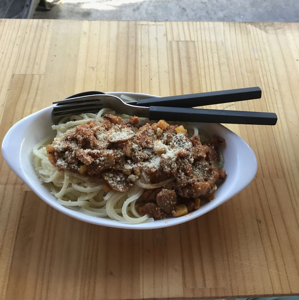 "Photo of CLOSED: Breadbaby  by <a href=""/members/profile/Jo_Hannes"">Jo_Hannes</a> <br/>Spaghetti with mushrooms, corn and fake cheese  <br/> April 19, 2017  - <a href='/contact/abuse/image/85687/249882'>Report</a>"
