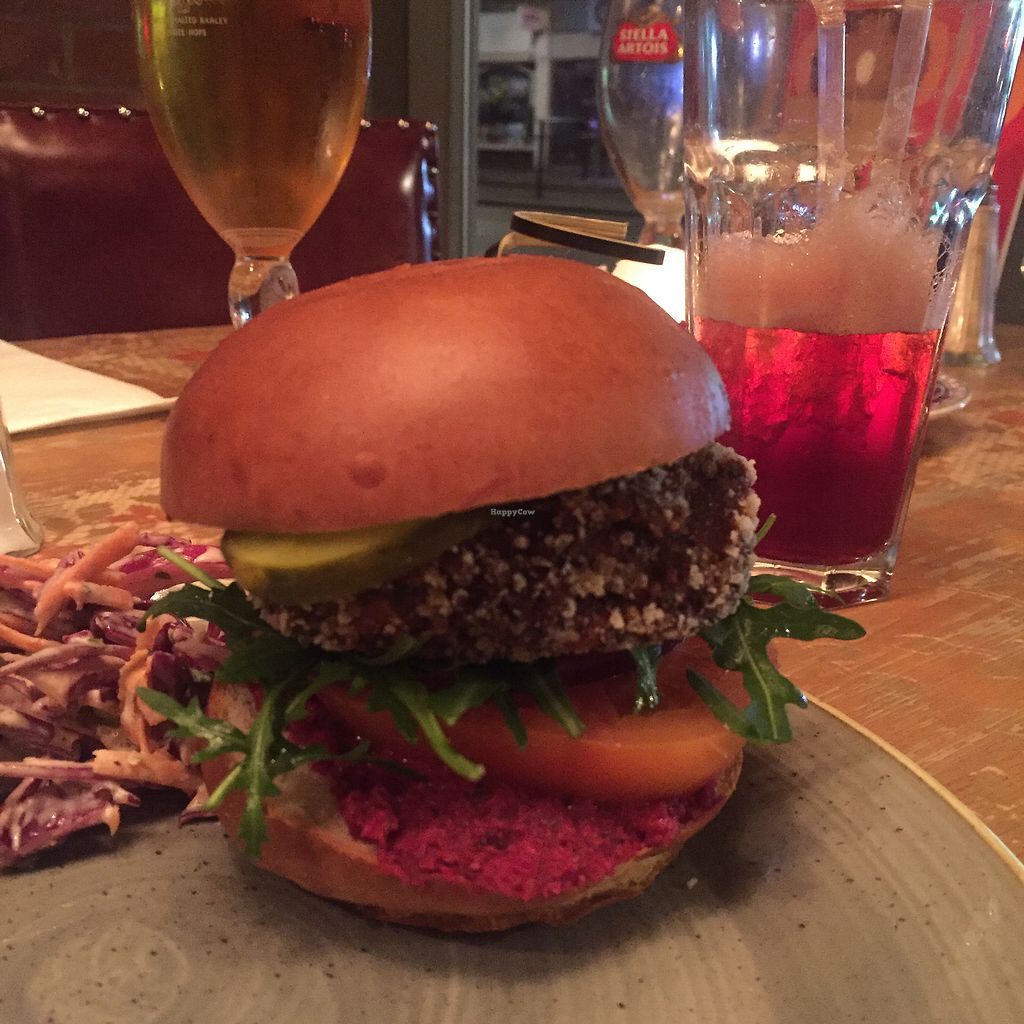 """Photo of Caballo Lounge  by <a href=""""/members/profile/bakeydoesntbake"""">bakeydoesntbake</a> <br/>Vegan burger <br/> April 1, 2018  - <a href='/contact/abuse/image/85691/379587'>Report</a>"""