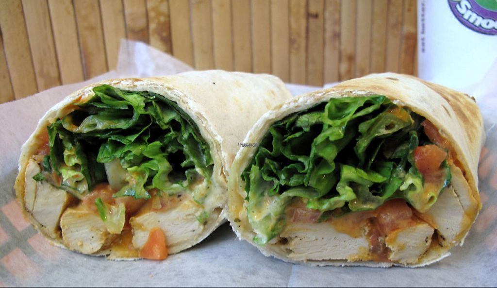 """Photo of Tropical Smoothie Cafe  by <a href=""""/members/profile/BriggitteJ"""">BriggitteJ</a> <br/>Beyond meat can be used in any wrap or salad!  <br/> January 30, 2017  - <a href='/contact/abuse/image/85700/219603'>Report</a>"""