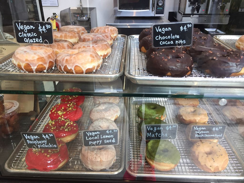"""Photo of Good Town Donuts  by <a href=""""/members/profile/TFlink"""">TFlink</a> <br/>So many vegan options!  <br/> January 24, 2017  - <a href='/contact/abuse/image/85715/215554'>Report</a>"""