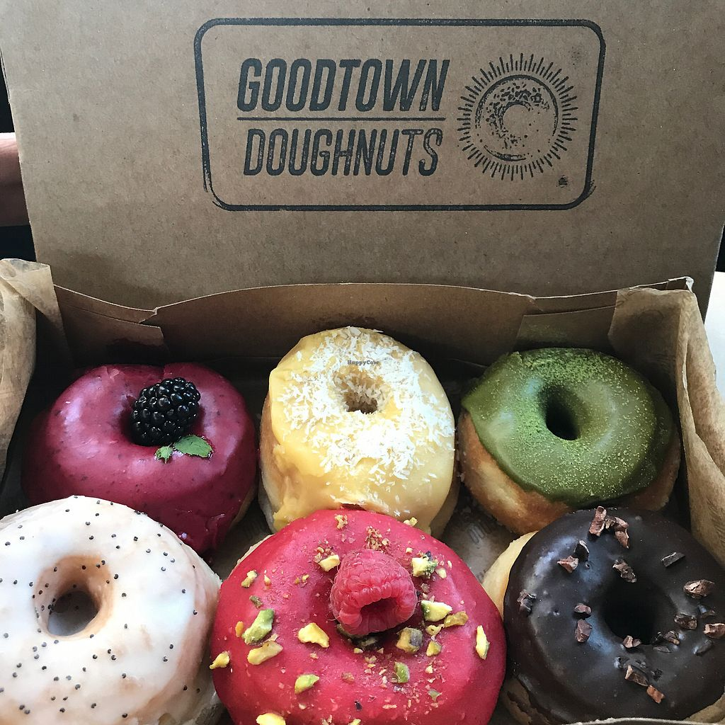 """Photo of Good Town Donuts  by <a href=""""/members/profile/xmrfigx"""">xmrfigx</a> <br/>New Vegan Mini Donuts! <br/> August 4, 2017  - <a href='/contact/abuse/image/85715/288803'>Report</a>"""