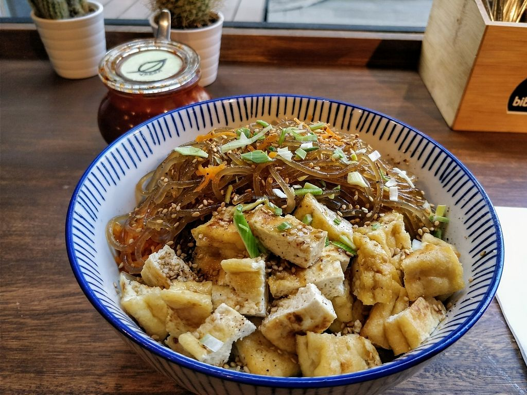 """Photo of Bibimcup  by <a href=""""/members/profile/sunshineMUC"""">sunshineMUC</a> <br/>Bibimbap with rice noodles and tofu <br/> August 22, 2017  - <a href='/contact/abuse/image/85721/295897'>Report</a>"""