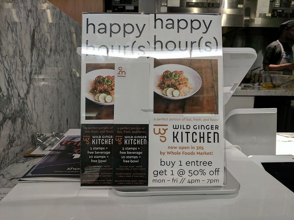"""Photo of Wild Ginger Kitchen  by <a href=""""/members/profile/RobertD"""">RobertD</a> <br/>Happy Hour weeknights 4-7pm <br/> March 12, 2017  - <a href='/contact/abuse/image/85768/235594'>Report</a>"""