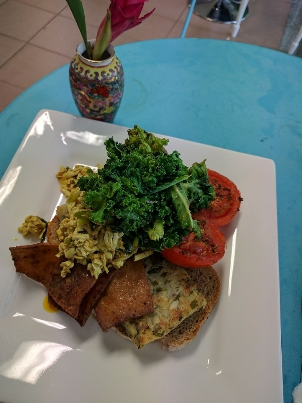 """Photo of Kings Wholefood Artisan  by <a href=""""/members/profile/VeganSoapDude"""">VeganSoapDude</a> <br/>Big Brekkie Tofu Scramble <br/> February 11, 2017  - <a href='/contact/abuse/image/85769/225126'>Report</a>"""